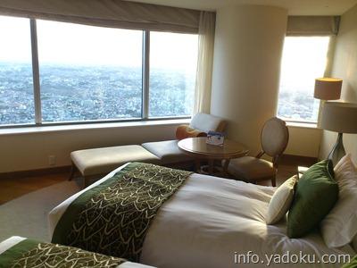 横浜ロイヤルパークホテルの最上階の部屋