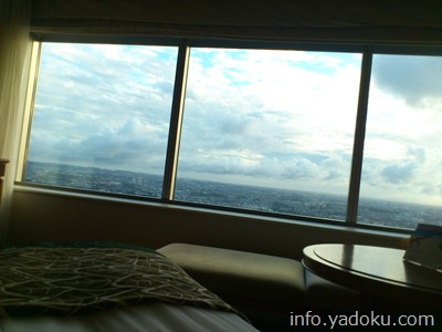 横浜ロイヤルパークホテルの最上階の客室